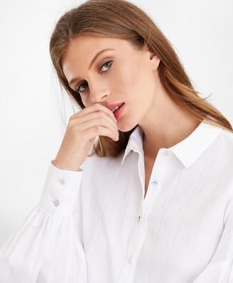 Brooks Brothers Petite Non-Iron Tailored-Fit Supima Cotton Floral Jacquard Blouse