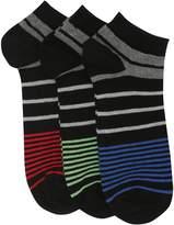 M&Co Cotton rich stripe trainer socks three pack