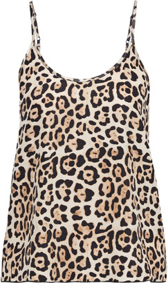 ATM Anthony Thomas Melillo Leopard-print Silk-charmeuse Camisole