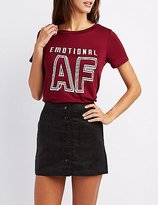 Charlotte Russe Emotional Graphic Tee