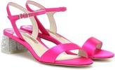 Sophia Webster Amber embellished satin sandals
