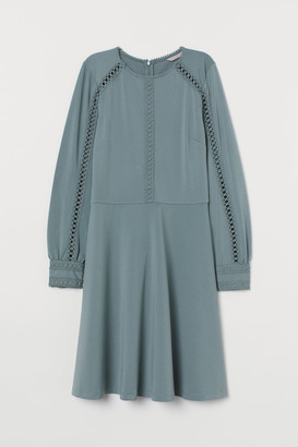 H&M Jersey dress with lace
