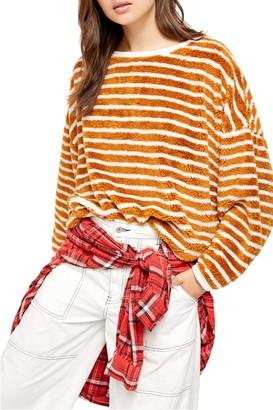 Free People Breton Stripe Pullover Sweater