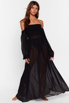 Nasty Gal Womens Sheer At the Beach Cover-Up Maxi Dress - black - 10, Black
