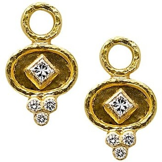 Elizabeth Locke Stone 19K Yellow Gold & Diamond Small Earring Charms