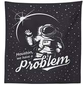 vipsung Outer Space Decor Tablecloth Space Themed Art with Houston We have a Problem Message Travel Illustration Dining Room Kitchen Rectangular Table Cover