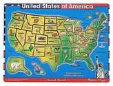 Melissa & Doug ; Deluxe USA Map Sound Puzzle