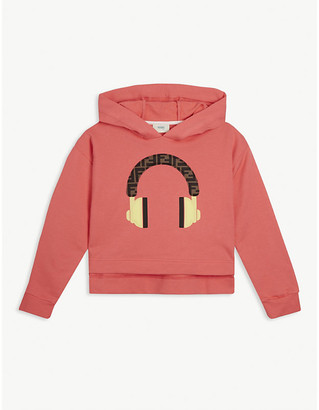 Fendi Graphic-print cotton hoody 8-14 years
