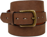 Yours Clothing BadRhino Tan Bonded Leather Jean Belt