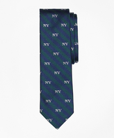 Brooks Brothers Striped NY-Motif Slim Tie