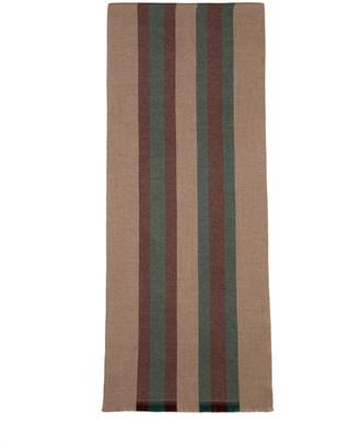 Gucci Striped Wool And Silk Scarf