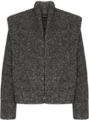 Isabel Marant Exaggerated-Shoulder Boucle Jacket