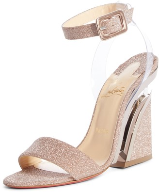 Christian Louboutin Levitalo Glitter Ankle Strap Sandal