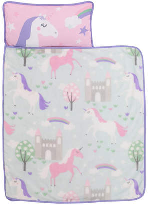 Everything Kids Unicorn Nap Mat with Pillow and Blanket Bedding