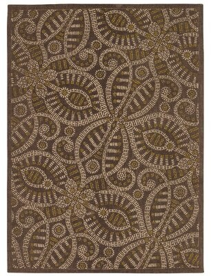 "Waverly Color Motion ""Belle of the Ball"" Brown Area Rug Rug Size: Rectangle 5' x 7'"