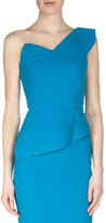 Roland Mouret Keiko One-Shoulder Wool Crepe Top
