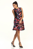 Maggy London Hawaiin Floral Fit and Flare Dress
