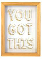 New View You Got This Framed wall poster print