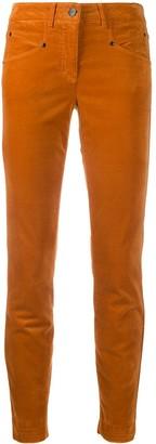 Luisa Cerano Cropped Skinny Velvet Jeans