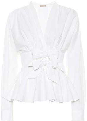Alaia Cotton-poplin blouse
