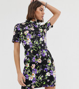 Collusion COLLUSION scuba floral corset mini dress