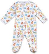 Kissy Kissy Born to Run Animal Printed Footie Pajamas, Yellow, Size Newborn-9 Months
