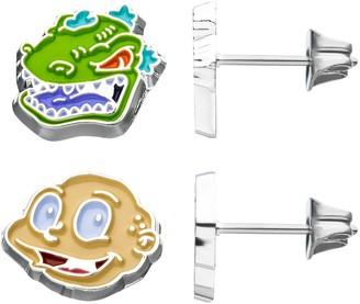 Nickelodeon Tommy and Reptar Stud Earrings