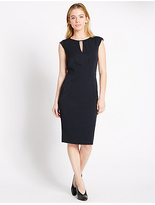 M&S Collection PETITE Key Hole Neck Shift Dress