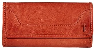 Frye Melissa Wallet (Burnt Orange) Wallet Handbags