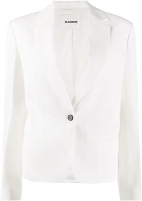 Jil Sander single breasted tuxedo blazer