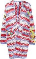 Mira Mikati crochet hooded cardigan - women - Wool/Acrylic/Cotton - 40