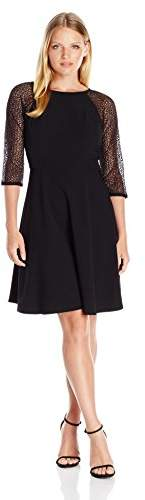 Women`s Bubble Lace Crepe Fit and Flare