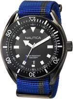 Nautica Men's 'PORTOFINO' Quartz Stainless Steel and Nylon Casual Watch, Color: (Model: NAPPRF002)