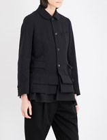 Comme des Garcons Pleated-panel wool jacket