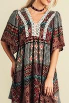 Umgee USA Black Peasant Dress