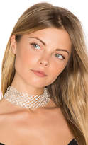 8 Other Reasons Crossed Choker in Metallic Silver.