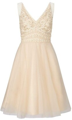Ariella London Ariella Lorie Tapework Tulle Dress