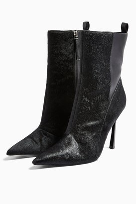 Topshop Womens Holly Black Point Boots - Black
