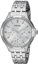Pulsar Women's PP6209 Chronograph Analog Display Japanese Quartz Silver Watch