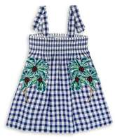 Stella McCartney Little Girl's & Girl's Palm Check Dress
