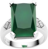 Jan Logan 18ct Green Onyx Diamond Lexington Ring