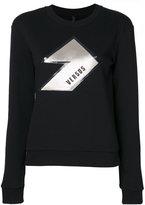 Versus textured logo print sweatshirt - women - Cotton - XL