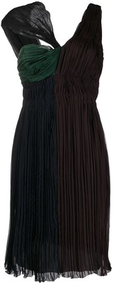 Prada Pre Owned Twisted Detail Gathered Dress
