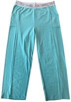 KENDALL + KYLIE Green Cotton Trousers for Women