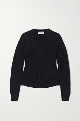 Officine Generale Anita Ribbed Wool Sweater - Navy