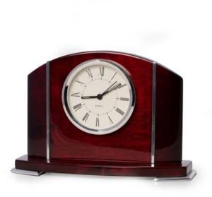 Bey-Berk Wood Quartz Movement Clock with Accents