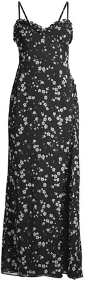 Fame & Partners The Coronado Floral High-Slit Dress