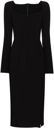 Dolce & Gabbana Sweetheart-Neck Midi Dress