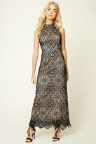 Forever 21 FOREVER 21+ Crochet Lace Maxi Dress