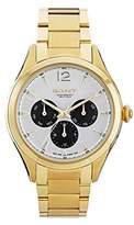 Gant Crawford Women's Quartz Watch with White Dial Analogue Display and Gold Stainless Steel Gold Plated Bracelet W70573